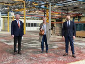 Visite locaux future école de production Salbris