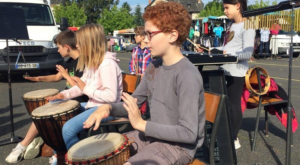 Ecole de musique de Salbris concert en extérieur
