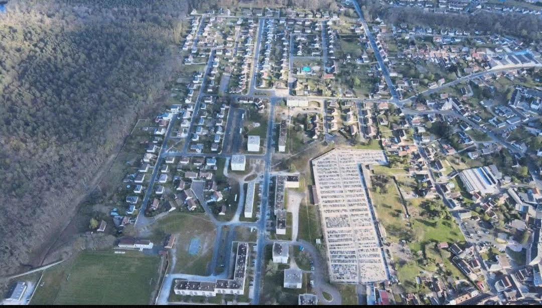 Vue aérienne quartier la Chesnaie Salbris