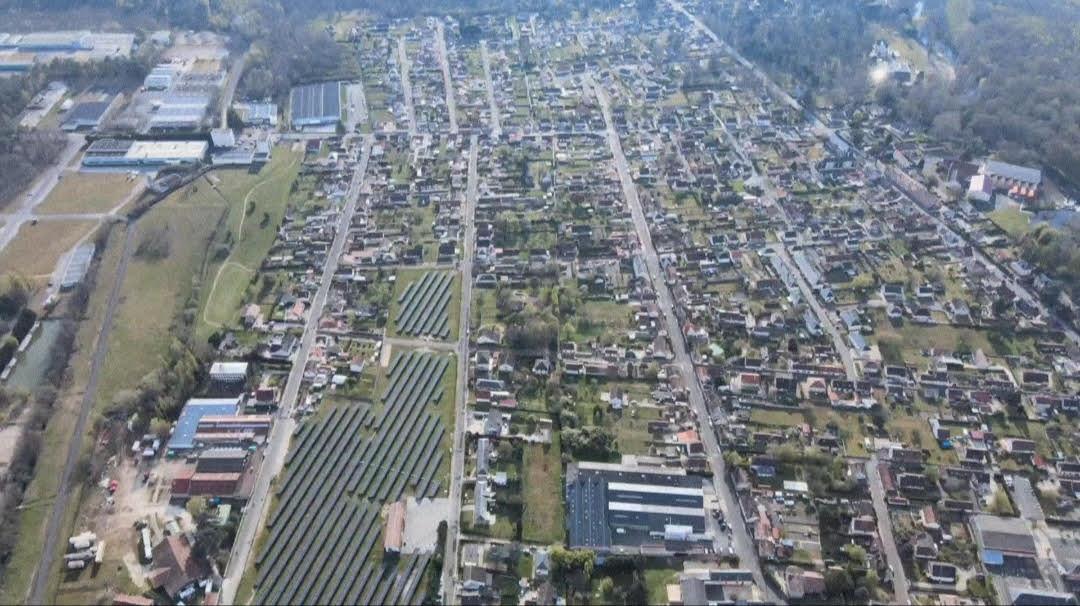 Vue aérienne quartier les Cousseaux Salbris